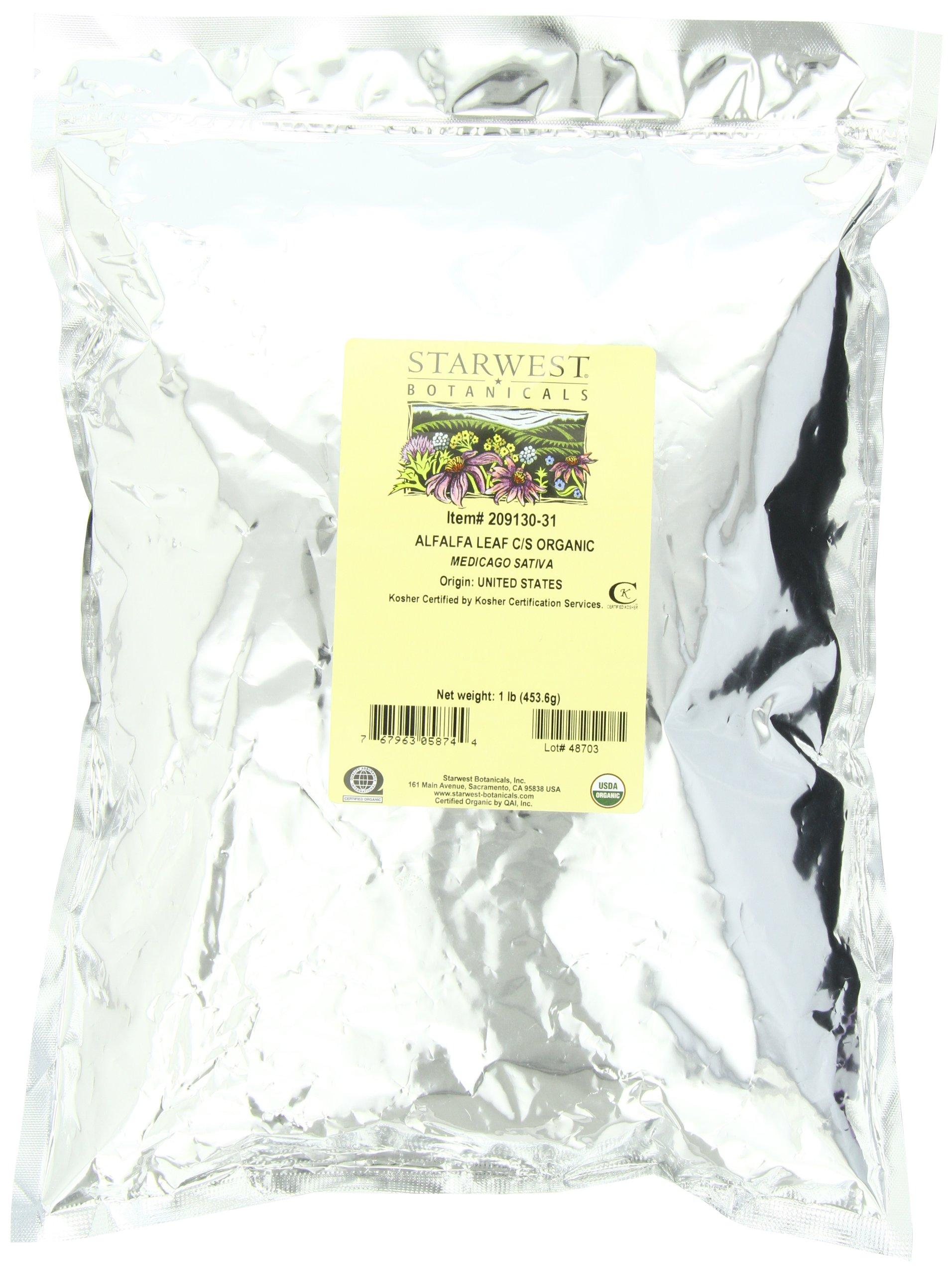 Starwest Botanicals Organic Alfalfa Leaf Cut, 1-pound Bag