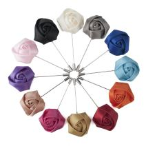 TOPTIE Lapel Pin Flower Boutonniere for Suit Rose for Wedding (Pack of 12)