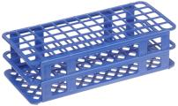 Heathrow Scientific HEA243077B Fold and Snap Rack for 17mm Tubes, Blue