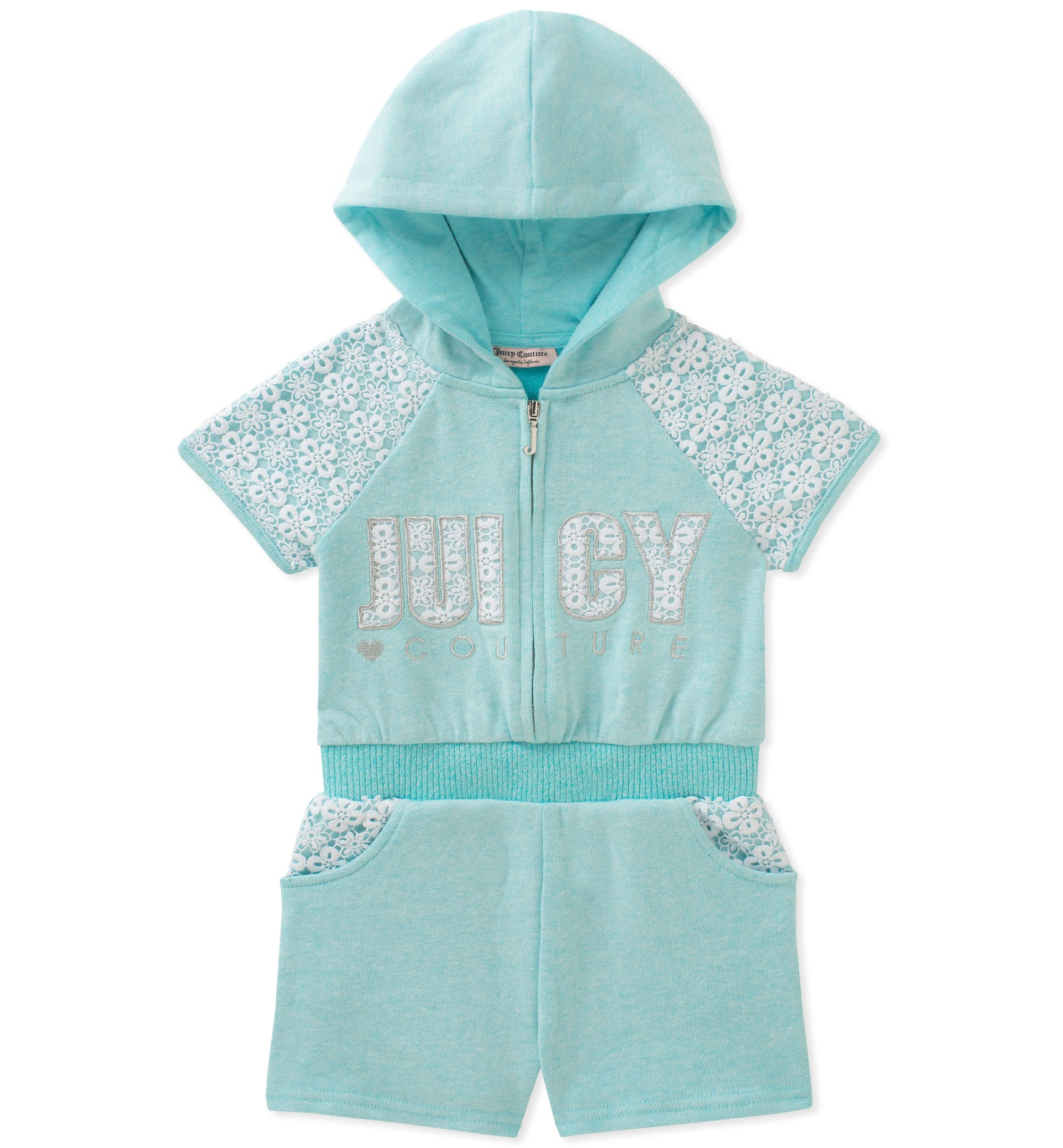 Juicy Couture Baby Girls Hooded Romper