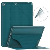 "Soke Luxury Series Case for iPad 7th Generation 10.2"" 2019- [Built-in Pencil Holder + 6 Magnetic Stand Angles + 360 Full Protection + Premium PU Leather] - Sleep/Wake Cover for iPad 10.2, Teal"