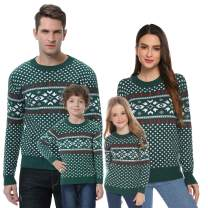 Abollria Christmas Sweater for Family Matching Ugly Christmas Funny Xmas Snowflake Sweaters Pullover(Dad/Mom/Kids)