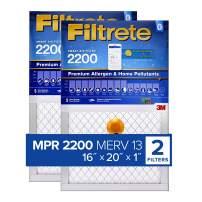 Filtrete 16x20x1 Smart Replenishable AC Furnace Air Filter, MPR 2200, Premium Allergen & Home Pollutants, 2-Pack