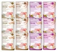 Epielle Hydrating & Moisturizing Gloves & Socks Masks Combo 12pk for Hand and Foot - Dry hand, Dry cracked heel  Coconut Oil, Milk Extract, Hyaluronic Acid, Sunflower Seed Oil, Avocado oil, Vitamin E