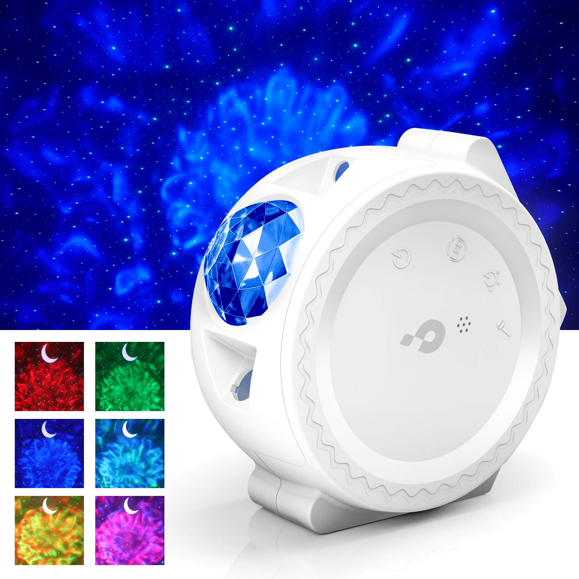 Star Projector, 3-1 Ocean Wave Projector Star Sky Night Light w/LED Nebula Cloud Touch&Voice Control Christmas Projector Light for Baby Kids Bedroom/Game Rooms/Home Theatre/Room Decor/Night Light