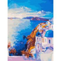 """5D Diamond Painting Kits for Adults by BANLANA, DIY Cross Stitch Crystal Rhinestone Embroidery Pictures Art Kit with Premium Tools, 12"""" by 16"""" Arts Craft for Home Wall Decor (Santorini)"""
