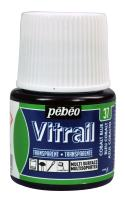 Pebeo Vitrail, Stained Glass Effect Paint, 45 ml Bottle - Cobalt Blue