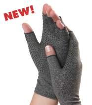 Dr. Frederick's Original Grippy Arthritis Gloves for Women & Men - Anti-Slip Compression Gloves for Arthritis Pain Relief - Rheumatoid & Osteoarthritis - Medium