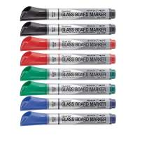 Quartet Glass Board Dry Erase Markers, Bullet Tip, Premium, Assorted Colors, 2-Pack (Total-8)