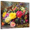 Art Wall williams-b-006-36x48-w Albert Williams 'Roses from a Victorian Garden' Gallery-Wrapped Canvas Artwork, 36 by 48-Inch