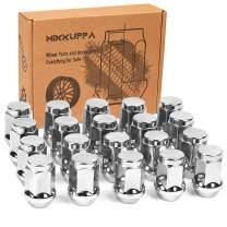 MIKKUPPA 1/2-20 Lug Nuts for 1987-2018 Jeep Wrangler, 2002-2012 Jeep Liberty, 1993-2010 Jeep Grand Cherokee Aftermarket Wheel - 20pcs Chrome Closed End Lug Nuts