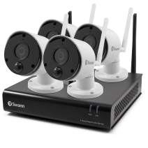 Swann 4 Camera 4 Channel 1080p Wi-Fi NVR Security System |1TB HDD, Heat & Motion Sensing + Night Vision