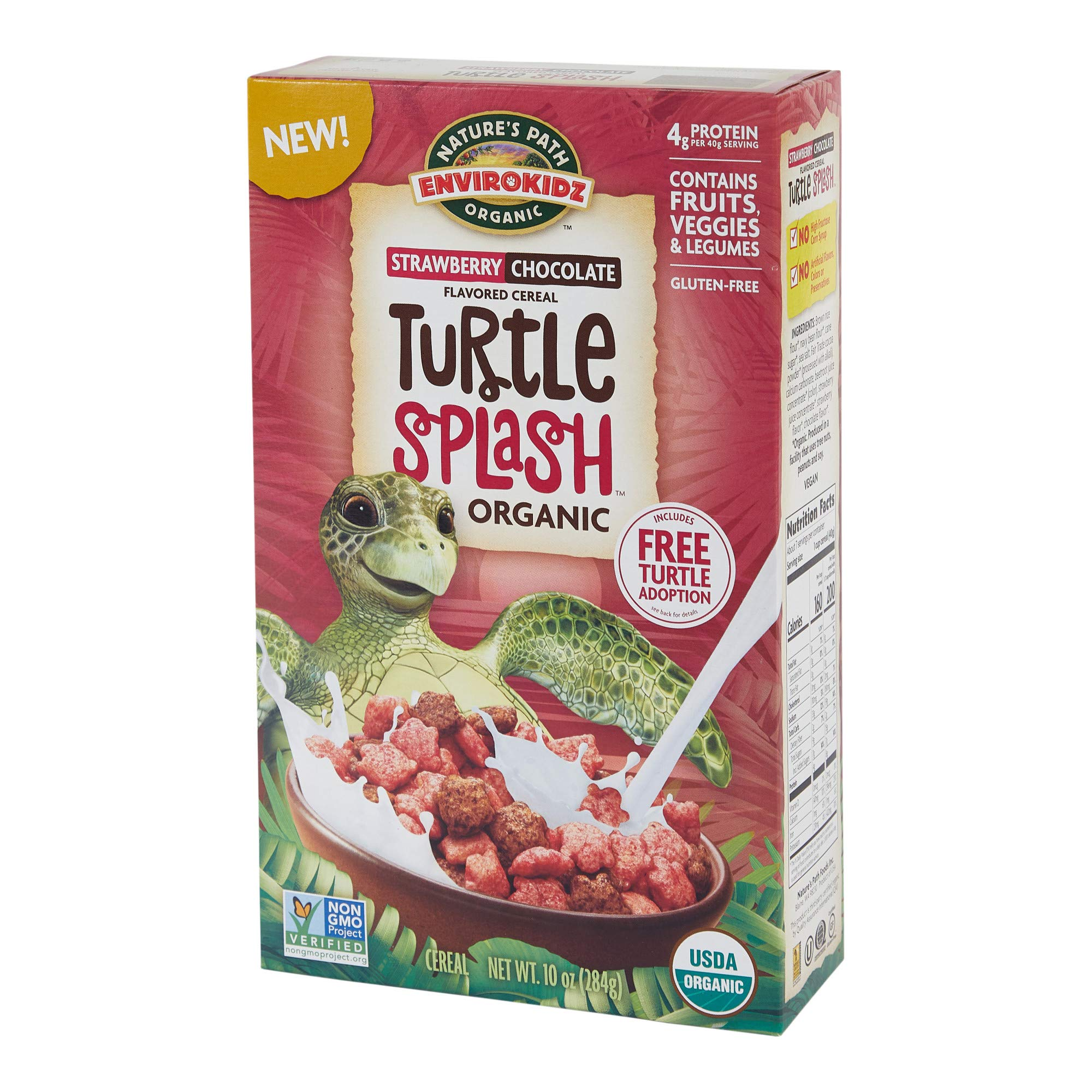 Nature's Path Envirokidz Organic Turtle Splash Cereal, 12 Count