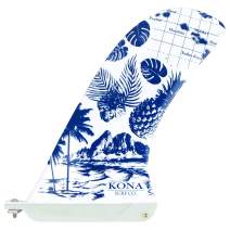 KONA SURF CO. Pivot Single Center Fin for Longboard, Surfboard and Paddleboard
