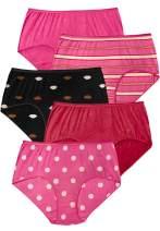 Comfort Choice Women's Plus Size 5-Pack Pure Cotton Full-Cut Brief