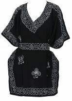 LA LEELA Women's Plus Size Beach Dress Hawaiian Camp Party Loungewear Printed A