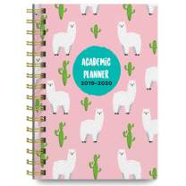 June 2019 - July 2020 Llamas Soft Cover Academic Year Day Planner Calendar Book by Bright Day, Weekly Monthly Dated Agenda Spiral Bound Organizer, 6.25 x 8.25 Inch,