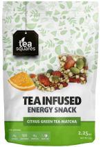 Caffeinated Energy Bites - Citrus Green Tea Matcha (Pack of 3) - Infused with Tea - Gluten Free - Vegan - Energy Snack - Protein Snack - Protein Bar - Tea Squares