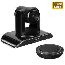 Tenveo Conference Room Camera Video conferencing System Bundle with Wireless Bluetooth Speaker for Business Meetings (VHD1080Pro + NA100B)