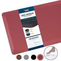 "Anti Fatigue Mat Kitchen Mats Cushioned,Thicken Core Foam 20x32x9/10-Inch,Perfect for Kitchens,Standing Desks and Garages,Phthalate Free,Relieves Foot,Knee,and Back Pain(Red, 20""x32"")"