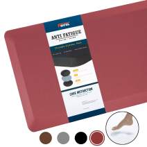 """Anti Fatigue Mat Kitchen Mats Cushioned,Thicken Core Foam 20x32x9/10-Inch,Perfect for Kitchens,Standing Desks and Garages,Phthalate Free,Relieves Foot,Knee,and Back Pain(Red, 20""""x32"""")"""
