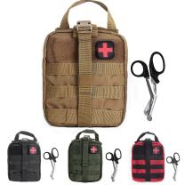 Compact Tactical MOLLE Rip-Away EMT Medical First Aid Utility Pouch 1000D Nylon Carlebben