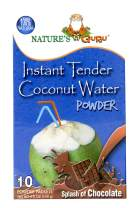 Nature's Guru Instant Tender Coconut Water Powder Chocolate 10 Count Single Serve On-the-Go Drink Packets