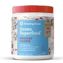 Amazing Grass Green Superfood: Super Greens Powder with Spirulina, Chlorella, Digestive Enzymes & Probiotics, Holiday Cookie, 30 Servings