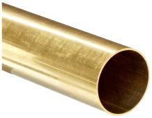 "Brass C260 Seamless Round Tubing, 1/2"" OD,0.442""ID, 0.029"" Wall, 12"" Length (Pack of 9)"