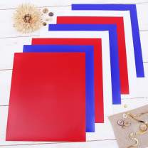 "Threadart Red White & Blue 10"" x 12"" Heat Transfer Vinyl Precut Sheets 