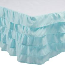 Elegant Comfort Luxurious Premium Quality 1500 Thread Count Wrinkle and Fade Resistant Egyptian Quality Microfiber Multi-Ruffle Bed Skirt - 15inch Drop, Queen, Aqua Blue
