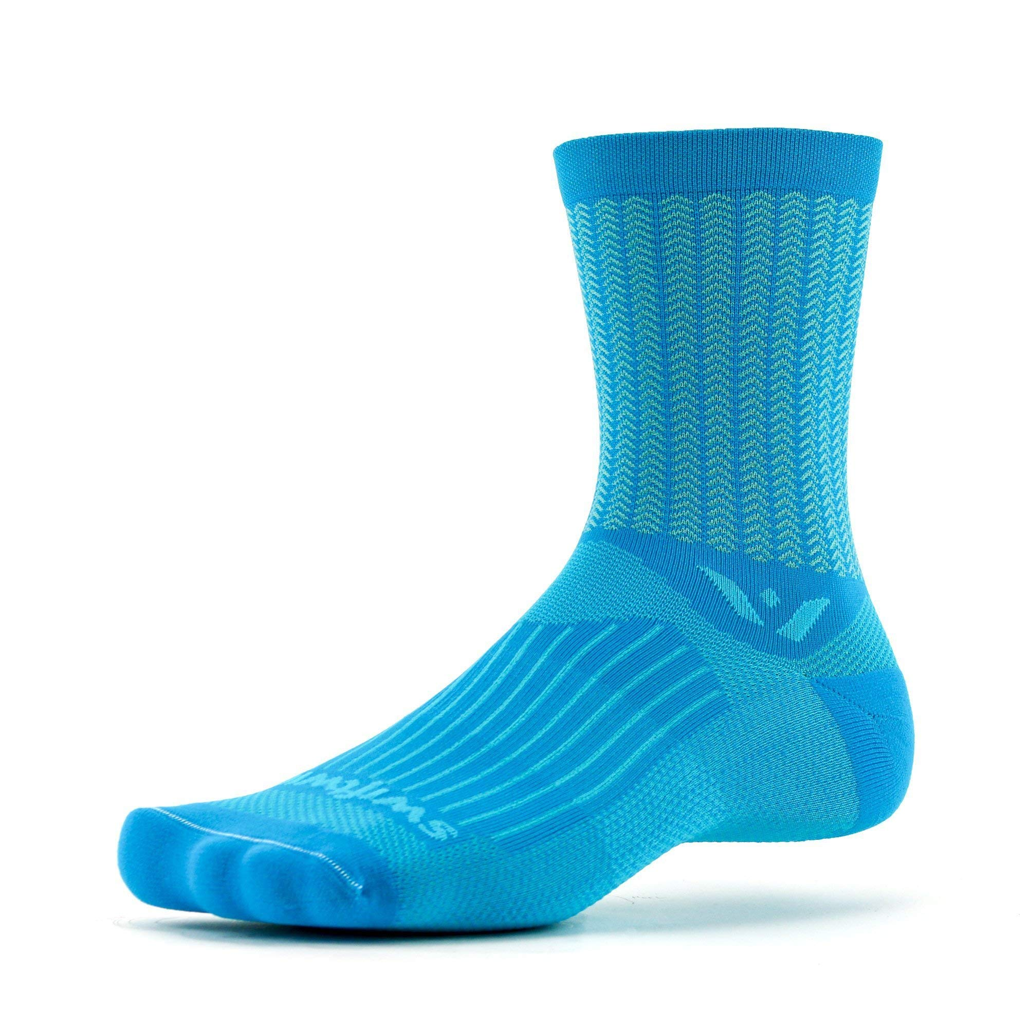 Swiftwick- VISION FIVE AERO Running & Cycling Socks, Performance Crew Socks
