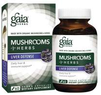 Gaia Herbs Mushrooms + Herbs Liver Defense, Vegan Liquid Capsules, 60 Count - Daily Liver Support & Immune Support with Organic Reishi, Astragalus and Schisandra