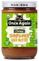 Once Again Organic, Creamy Sunflower Butter - Peanut Free, Lightly Sweetened & Salted - 16 oz Jar