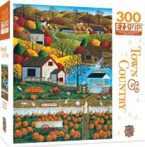 MasterPieces Town & Country Autumn Morning - Pumpkin Patches Large 300 Piece EZ Grip Jigsaw Puzzle by Art Poulin