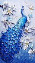 TOCARE DIY 5D Large Diamond Painting Kits for Adults 45x75CM/18x30 Inch Full Diamond Lucky Bird Peacock Animal Embroidery Dotz Diamond Art Craft Home Wall Art Decor Present for Family