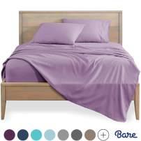 Bare Home King Sheet Set - 1800 Ultra-Soft Microfiber Bed Sheets - Double Brushed Breathable Bedding - Hypoallergenic – Wrinkle Resistant - Deep Pocket (King, Lavender)