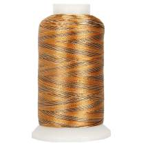 Threadart Variegated Polyester Embroidery Thread - 40wt - 1000m - 25 Colors Available - No. 8 - Sands