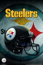 "Trends International NFL Pittsburgh Steelers - Helmet, 22.375"" x 34"", Premium Unframed"