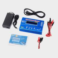 FCONEGY B6 Lipo Battery Balance Charger 80W 6A Discharger for NiMH/NiCd (1-15S), LiPo/Li-ion/Life Battery (1-6S), RC Hobby Batteries Balance Charger LED W/AC Power