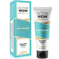 Active Wow Toothpaste - Teeth Whitening Formula with Organic Coconut Oil & Xylitol (Natural Whitening)