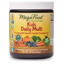 MegaFood, Kids Daily Multi Booster Powder, Promotes Healthy Growth Development, Multivitamin Supplement, Vegetarian, 1.8 oz (30 Servings)