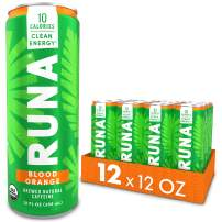 Organic Clean Energy Drink by RUNA, Blood Orange | Refreshing Tea Taste | 10 Calories | Powerful Natural Caffeine | Healthy Energy & Focus | No Crash or Jitters | 12 Oz (Pack of 12)