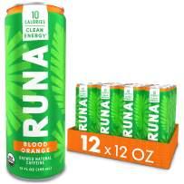 Organic Clean Energy Drink by RUNA, Blood Orange   Refreshing Tea Taste   10 Calories   Powerful Natural Caffeine   Healthy Energy & Focus   No Crash or Jitters   12 Oz (Pack of 12)