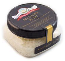 New Zealand Fine Sea Salt - Pure, Clean Pacific Sea Salt Naturally Evaporated by Sun & Wind - All Natural, No Gluten, No MSG, Non-GMO - 4 oz. Stackable Jar