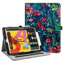 """Fintie Case for New iPad 7th Generation 10.2 Inch 2019 - [Corner Protection] Multi-Angle Viewing Folio Smart Stand Back Cover with Pocket, Pencil Holder, Auto Wake/Sleep for iPad 10.2"""", Jungle Night"""