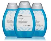 Amazon Brand - Solimo Argan Oil Conditioner, 13 fl. Oz (Pack of 3)