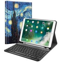 "Fintie Keyboard Case for iPad Air 3rd Gen 10.5"" 2019 / iPad Pro 10.5"" 2017 - SlimShell Stand Protective Cover w/Magnetically Detachable Wireless Bluetooth Keyboard and Pencil Holder, Starry Night"