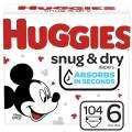 Huggies Snug & Dry Baby Diapers, Size 6, 104 Ct
