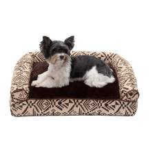Furhaven Pet Dog Bed   Pillow Cushion Traditional Sofa & Deluxe Therapeutic Rectangular Foam Mattress Pet Bed w/ Removable Cover for Dogs & Cats - Available in Multiple Colors & Styles
